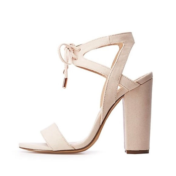 1b3fd25f5290 🌹Charlotte Russe Open Toe Tie Front Sandals